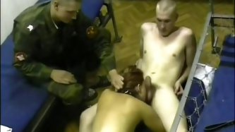 Some amateur slut got fucked by a group of horny soldiers. They ravished her slit right in front of me, while I was filming it. They fucked the slut r