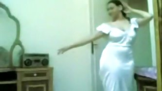 Obese Arab Gal Teases Her Boy-Friend Undressed In The Bedroom With Her Large Love Bubbles And Hairless Snatch