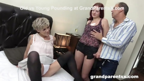 Old Perv Couple Showing Call Girl How It's Done