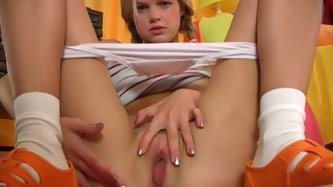 Sweet Blonde Teen Girl Finger Cooshie