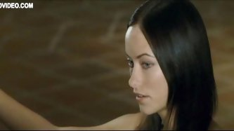 Exquisite Babe Olivia Wilde Gets Tied Up To A Bed Topless
