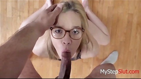 DAD forces DAUGHTER to split on his cock-  Katie Kush