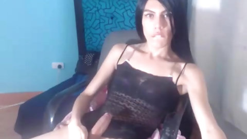 tgirl With petite mounds Masturbation