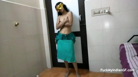 Skinny Indian GF Dancing In Shalwar Suit Stripped Full And Doing Nude Dance