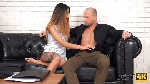 Debt4k. Petite model Roxy Lips  with hyp body has sex