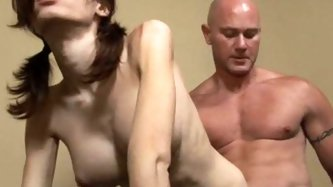 Bald strong guy fucks brunette sexy shemale. Hot video - Shemale porn tube video