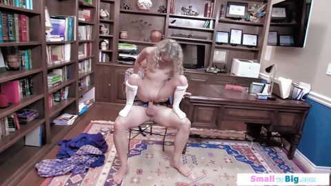 Cute blonde teen getting fucked by her horny stepdad