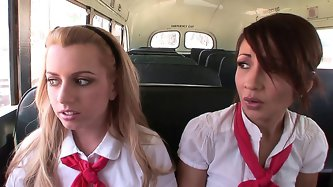 Lexi Belle and Coco Velvett threesome with teacher