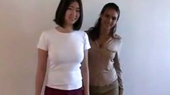 Shy Asian first time lesbian experience at audition