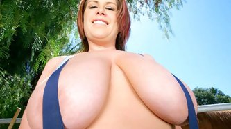 Lisa Sparxxx is back! This chick has finally returned to BIGnaturals and with tits bigger than ever! This time we located her at her ranch and Voodoo