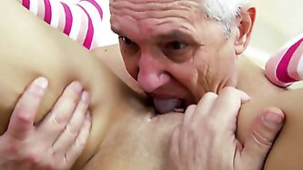 A Shower with Grandpa - Older Man porn tube video