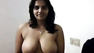 She has rather sexy and big tits. She is fond of huge cocks and deep penetration. She makes him always hot titjob. This Indian slut can erect any cock