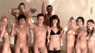 Strip ended with an orgy at the party - Group sex porn tube video