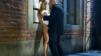 Perfect blonde chick seduces a criminal and gives him a special treatment.