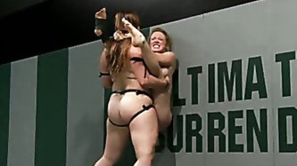Tragedy strikes in the semi finals: 2 highly competitive girls non-scripted wresting, a rolled ankle 1 wrestler is injured the match over, tough sport