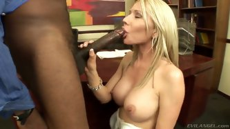 Evil cuckold. Staring porn star Ashley Winters,Bob E and Sean Michaels. great hardcore interracial action as this blonde babe with big tits sucks on t