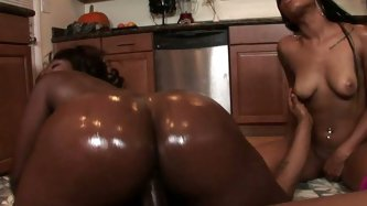 This is what i called a booty man. Two fuckin gorgeous ebony queens rides huge giant cock and heavily banged doggystyle.