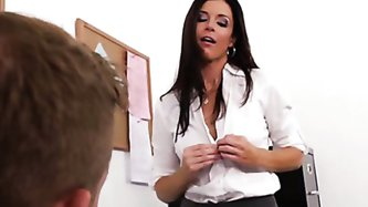 Professor India Summer talks to her student Bill about his recent poor performance in class, and questions whether it's because he's become