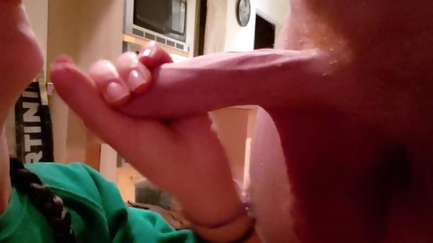 Pulling His Foreskin Back As Far As It Will Go