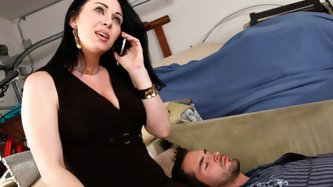 On her way to work Rayveness stops to grab something from her garage, and finds Kris, her guy's best friend, fast asleep. Taking a moment to admi