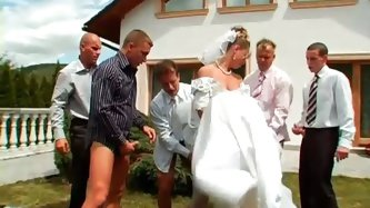 YOU MAY NOW GANGBANG THE BRIDE! Miss Piss gets married today in a quiet ceremony with just a few of her horse-hung guy pals, and to celebrate her unio