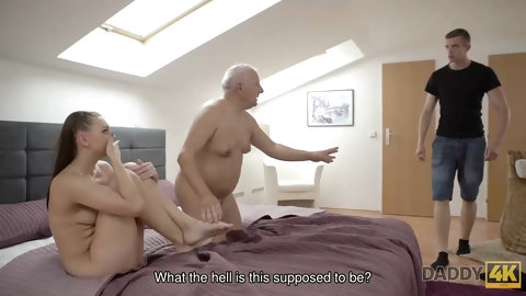 DADDY4K. Daddy finds a right moment to seduce young lovely girl Ornella Morgen
