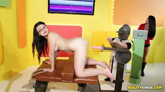 Are you ready to get dirty to the craziest talk show on Earth? Here you go – this show is aired here! Watch one of its participants get good anal tr