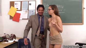 Riley Reid is close to earning her associate's degree, and working as Professor Gunn's assistant would not only give her some extra credits,