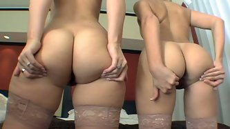 These lascivious maids are two of the classiest girls ever! Their big delicious asses can give any man an instant erection. You guys must decide what