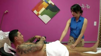 Nasty Asian chick takes off her clothes and massages cock. His dick melts in her hot playful hands. Enjoy watching massage Reality Kings sex scene.