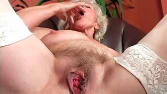 Gosh, this grey haired bitch with droopy boobs and cellulitis ass presented in 21 Sextury xxx clip is surely a voracious nympho... Too old and too spo