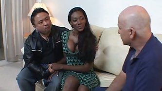 She is hawt ebony babe and she gives best ever blowjobs. Her  juicy jugs are above all praise and her  nice round ass is everything your cock desires.