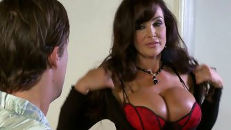 Lisa Ann looks perfectly while she rubs her clit over his face and sucks his cock at a time. Just be pleased with this hot tempered couple having sex