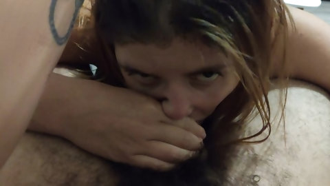 Sloppy Blowjob, Deep Throat & Cum On Face With Eastern European Slut