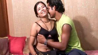 Kinky Indian couple prepared for you exciting sex video. He fucks her pussy with dildo toy and makes her orgasm in missionary style position.