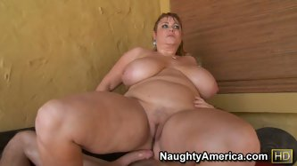 Adam fell in love with fat Samantha and especially her big boobs. The horny dick mouth fucked her and fingered her pussy. Then fat girl rode on his co