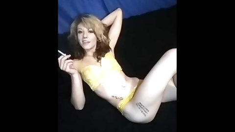 Feet stuff - sexy smoking with foot & flexibility- puts leg behind head
