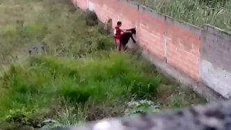 I spotted these two amateur sex crazed couple fucking and enjoying sex while leaning on a wall near my house. I whipped out my camera to catch it all