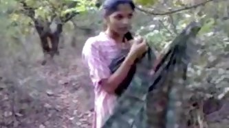 Bewitching Indian bitch in gentle pink dress goes in the forest to make a sex video, where she will show her wonderful boobs with appetizing nipples a