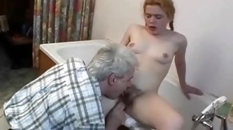 Nasty Redhead Teen Gets Her Ass Fucked By The Lewd Stepfather