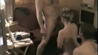 Amazing hot wife Hot Texas MILF shared by husband threesome video. This amazing video shows a how a woman can be arouse when fucking two guys. See mor