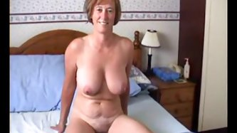 Who said marriage ruins sex life? Who said people become less active with age? Look at this busty mature lady shooting crazy home made video with her