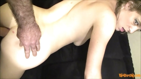 Petite blonde prostitute fucked hard till anal creampie - Erin Electra