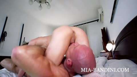 Riding his face and dick till I cum hard. Mia Bandini