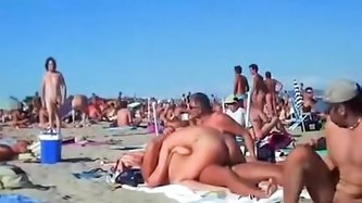Several couples having sex on the beach of Cap d'Agde. See more beach sex videos with couples having public sex
