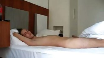 Amateur couple on vacation making a sextape