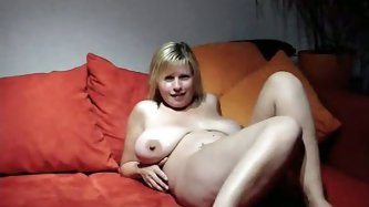 Hawt Busty Wife Cheating with Friend on Bed and filming the whole fuck action for her husband to watch.