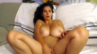 Katherine is a lustful bitch who agreed to do a webcam show for me for a nice sum of money. In this adult sex video this woman with huge bosoms mastur