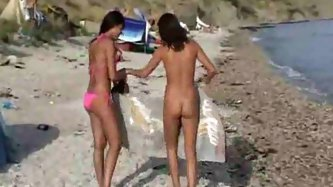 Lots of ladies naked at the beach and in water - Outdoor Porn