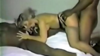 Homemaker receives triple team-fucked in cheap motel